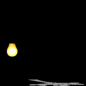 Tree with a light bulb symbolising an idea